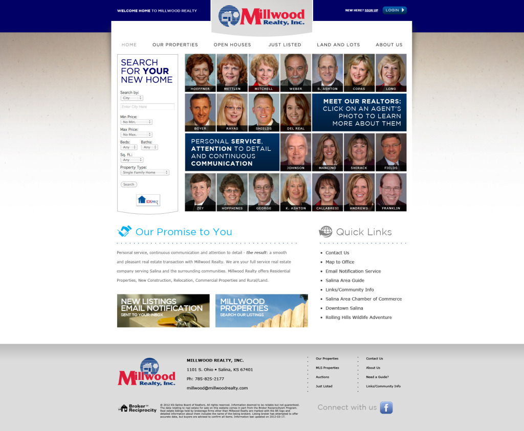 Millwood Realty Website