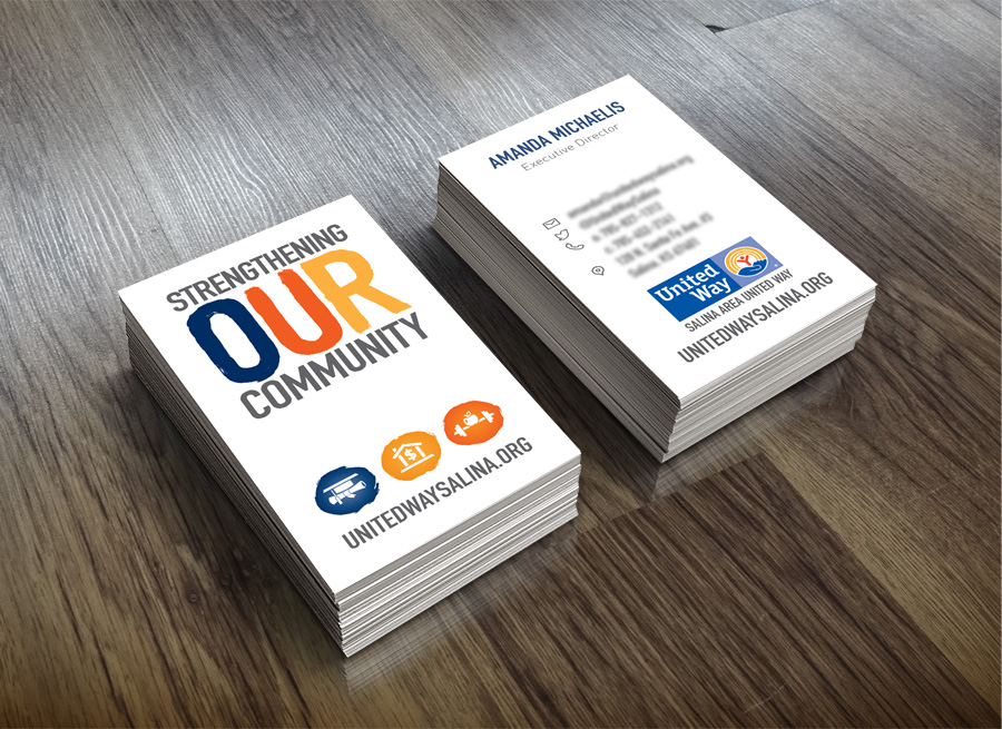 Salina Area United Way Campaign Business Cards