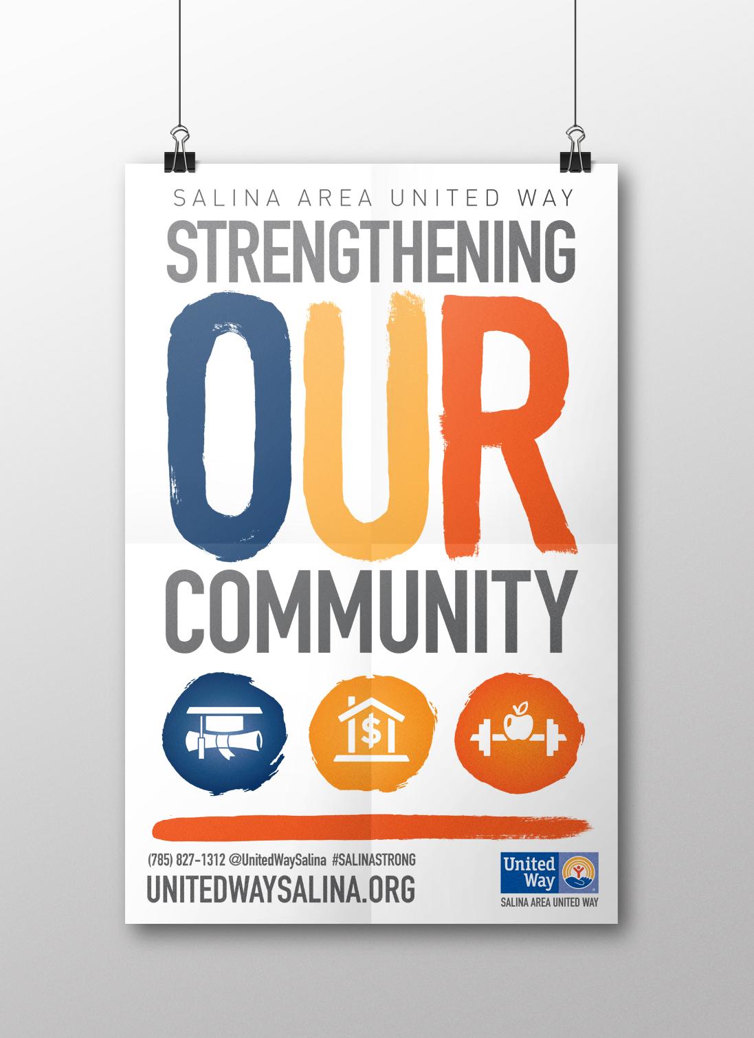 Mr. Freeland Design Salina Area United Way Campaign Artwork for 2015