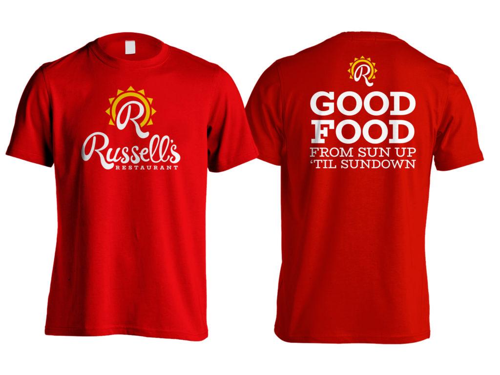 Russell's Restaurant Shirt, Salina, KS